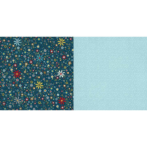 Carolee's Creations - Adornit - Wild Flower Collection - 12 x 12 Double Sided Paper - Tiny Daisy