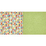 Carolee's Creations - Adornit - Wild Flower Collection - 12 x 12 Double Sided Paper - Garland