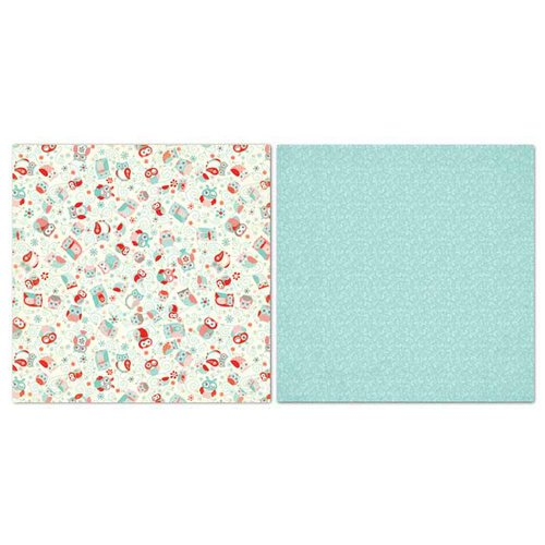 Carolee's Creations - Adornit - Nested Owls Coral Collection - 12 x 12 Double Sided Paper - Owls All Around