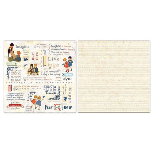 Carolee's Creations - Adornit - Bobby and Betty Collection - 12 x 12 Double Sided Paper - Word Play