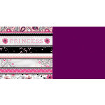 Carolee's Creations - Adornit - Princess Collection - 12 x 12 Double Sided Paper - Ticker Tape