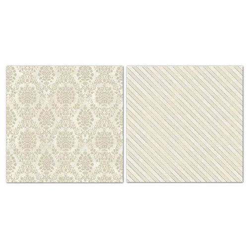 Carolee's Creations - Adornit - Blender Basics Collection -12 x 12 Double Sided Paper - Beige Damask