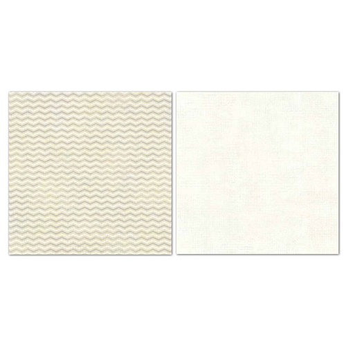 Carolee's Creations - Adornit - Blender Basics Collection -12 x 12 Double Sided Paper - Beige Chevron