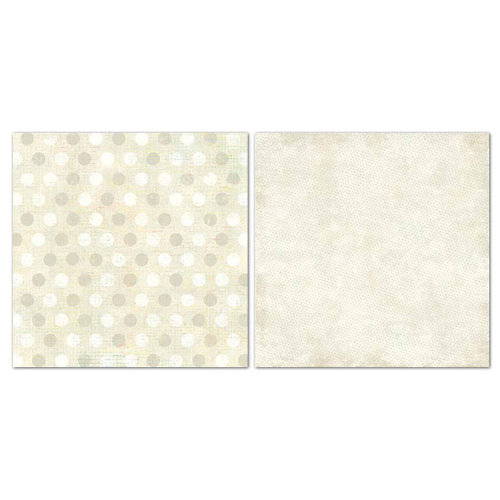 Carolee's Creations - Adornit - Blender Basics Collection -12 x 12 Double Sided Paper - Beige Pixie Dots