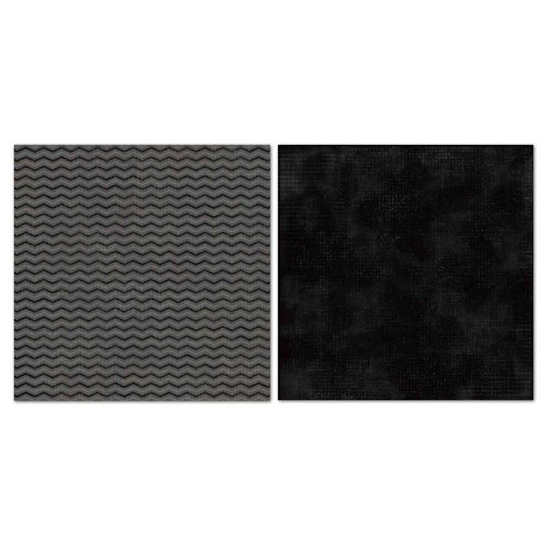 Carolee's Creations - Adornit - Blender Basics Collection -12 x 12 Double Sided Paper - Black Chevron