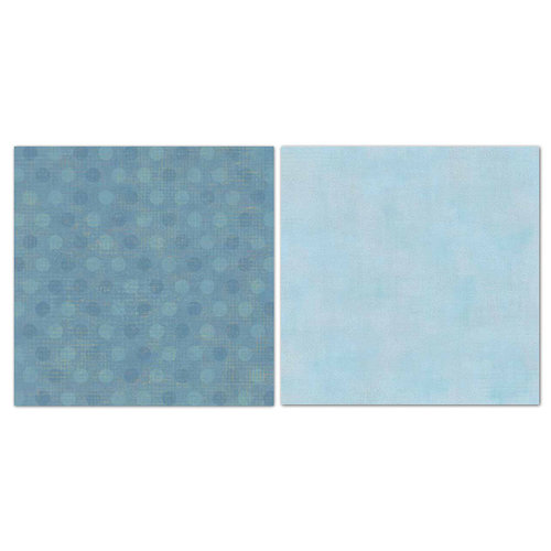 Carolee's Creations - Adornit - Blender Basics Collection -12 x 12 Double Sided Paper - Blue Pixie Dots