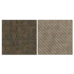 Carolee's Creations - Adornit - Blender Basics Collection -12 x 12 Double Sided Paper - Brown Damask