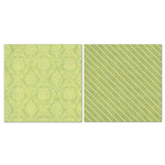 Carolee's Creations - Adornit - Blender Basics Collection -12 x 12 Double Sided Paper - Green Damask