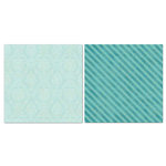 Carolee's Creations - Adornit - Blender Basics Collection -12 x 12 Double Sided Paper - Mint Damask