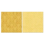 Carolee's Creations - Adornit - Blender Basics Collection -12 x 12 Double Sided Paper - Mustard Damask