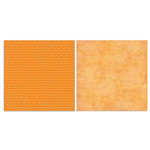 Carolee's Creations - Adornit - Blender Basics Collection -12 x 12 Double Sided Paper - Orange Chevron