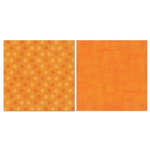 Carolee's Creations - Adornit - Blender Basics Collection -12 x 12 Double Sided Paper - Orange Pixie Dots