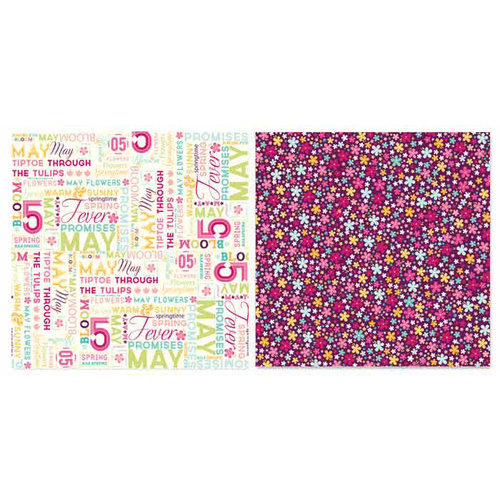 Carolee's Creations - Adornit - Seasons Collection - 12 x 12 Double Sided Paper - May Word Play