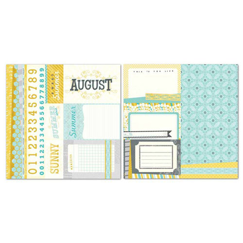 Carolee's Creations - Adornit - Seasons Collection - 12 x 12 Double Sided Paper - August Cut Apart