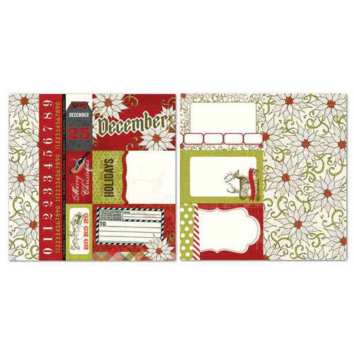 Carolee's Creations - Adornit - Seasons Collection - 12 x 12 Double Sided Paper - December Cut Apart