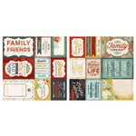 Carolee's Creations - Adornit - Forever Family Collection - 12 x 12 Double Sided Paper - Family Cut Apart