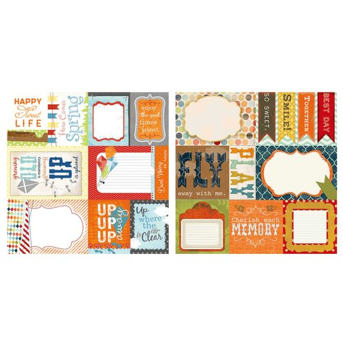 Carolee's Creations - Adornit - Time Flies Collection - 12 x 12 Double Sided Paper - Kite Cut Apart