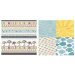 Carolee's Creations - Adornit - Rainy Days and Sunshine Collection - 12 x 12 Double Sided Paper - Rain Boots