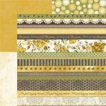 Carolee's Creations - Adornit - Bumble Collection - 12 x 12 Double Sided Paper - Ticker Tape