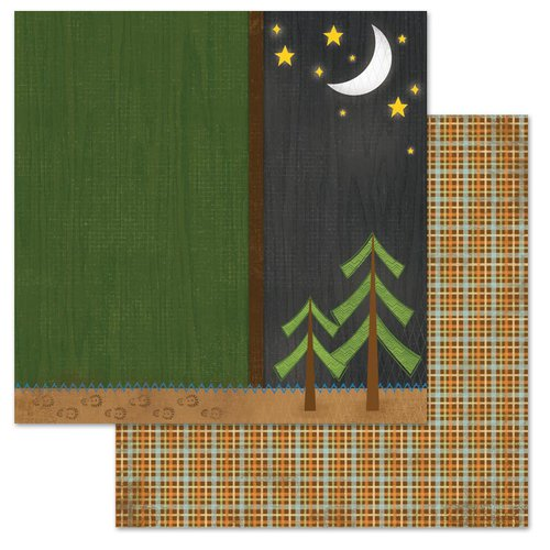 Carolee's Creations - Adornit - Happy Trails Collection - 12 x 12 Double Sided Paper - Night Trails