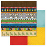 Carolee's Creations - Adornit - Happy Trails Collection - 12 x 12 Double Sided Paper - Outdoor Tickertape