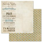 Carolee's Creations - Adornit - Wisteria Collection - 12 x 12 Double Sided Paper - Family Rules
