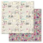 Carolee's Creations - Adornit - Rhapsody Bop Collection - 12 x 12 Double Sided Paper - Rhapsody Chatter