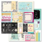 Carolee's Creations - Adornit - Rhapsody Bop Collection - 12 x 12 Double Sided Paper - Rhapsody Cut Apart