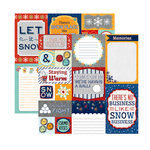 Carolee's Creations - Adornit - Snow Days Collection - 12 x 12 Double Sided Paper - Snowman Cut Apart