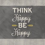 Carolee's Creations - Adornit - Art Play Prints - 12 x 12 Paper - Think Happy