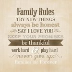 Carolee's Creations - Adornit - Art Play Prints - 12 x 12 Paper - Family Rules
