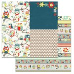 Carolee's Creations - Adornit - Nested Owl Mint Collection - 12 x 12 Double Sided Paper - Owl Pals Tickertape