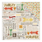 Carolee's Creations - Adornit - Family Path Collection - 12 x 12 Double Sided Paper - Word Play