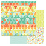 Carolee's Creations - Adornit - Kaleidoscope Collection - 12 x 12 Double Sided Paper - Triangle Glass