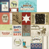 Carolee's Creations - Adornit - Yeehaw Collection - 12 x 12 Double Sided Paper - Western Cut Apart