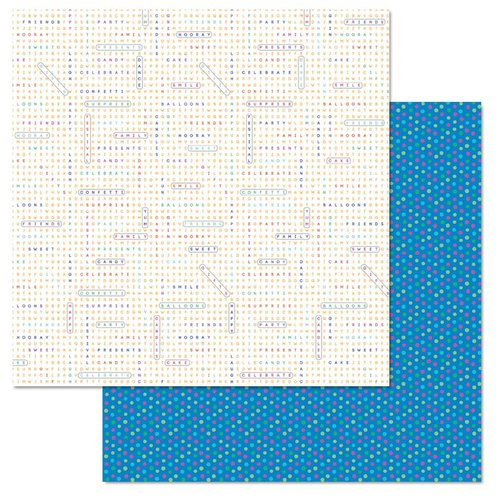 Carolee's Creations - Adornit - Celebrate Collection - 12 x 12 Double Sided Paper - Word Search