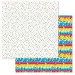 Carolee's Creations - Adornit - Celebrate Collection - 12 x 12 Double Sided Paper -Party Confetti
