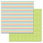 Carolee's Creations - Adornit - Celebrate Collection - 12 x 12 Double Sided Paper -Party Chevron