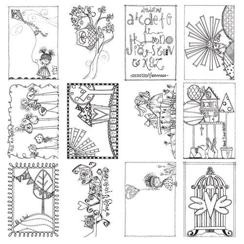 Carolee's Creations - AdornIt - Art Play Paintables - 12 x 12 Paper - Alphabet Soup