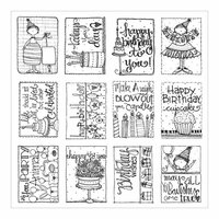 Carolee's Creations - AdornIt - Art Play Paintables - 12 x 12 Paper - Birthday Surprise