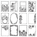 Carolee's Creations - AdornIt - Art Play Paintables - 12 x 12 Paper - Floral Frames