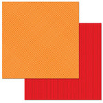 Carolee's Creations - Adornit - 12 x 12 Double Sided Paper - Orange Check