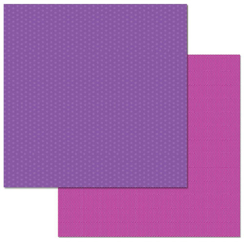 Carolee's Creations - Adornit - 12 x 12 Double Sided Paper - Magenta Dots