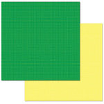 Carolee's Creations - Adornit - 12 x 12 Double Sided Paper - Emerald Check