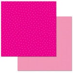 Carolee's Creations - Adornit - 12 x 12 Double Sided Paper - Hot Pink Dots