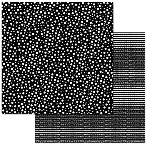 Laura Kelly B/W Dots Double Sided paper for Adornit