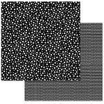 Carolee's Creations - Adornit - 12 x 12 Double Sided Paper - Black and White Dots