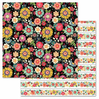 Carolee's Creations - AdornIt - Flamingo Fever Paper Collection - 12 x 12 Double Sided Paper - Chica Blooms