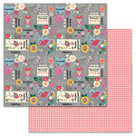 Carolee's Creations - AdornIt - Flamingo Fever Paper Collection - 12 x 12 Double Sided Paper - Flamingo Word