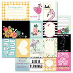 Carolee's Creations - AdornIt - Flamingo Fever Paper Collection - 12 x 12 Double Sided Paper - Let's Flamingle Cut Apart